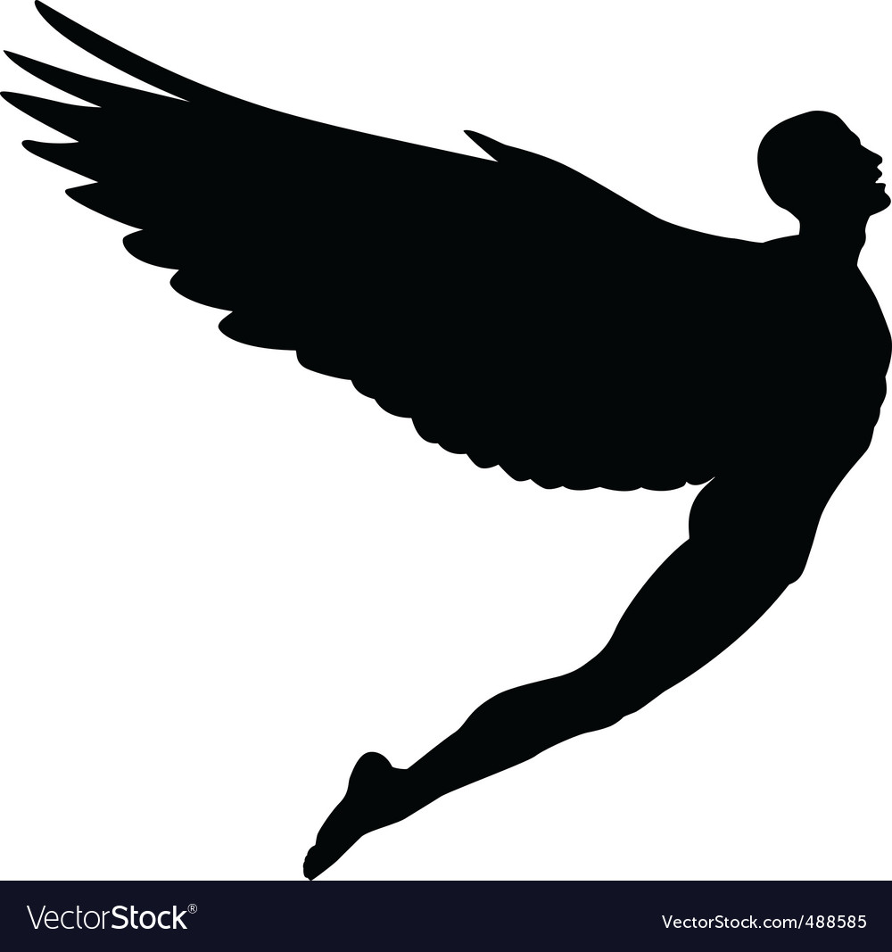 Flying man vector | Price: 1 Credit (USD $1)