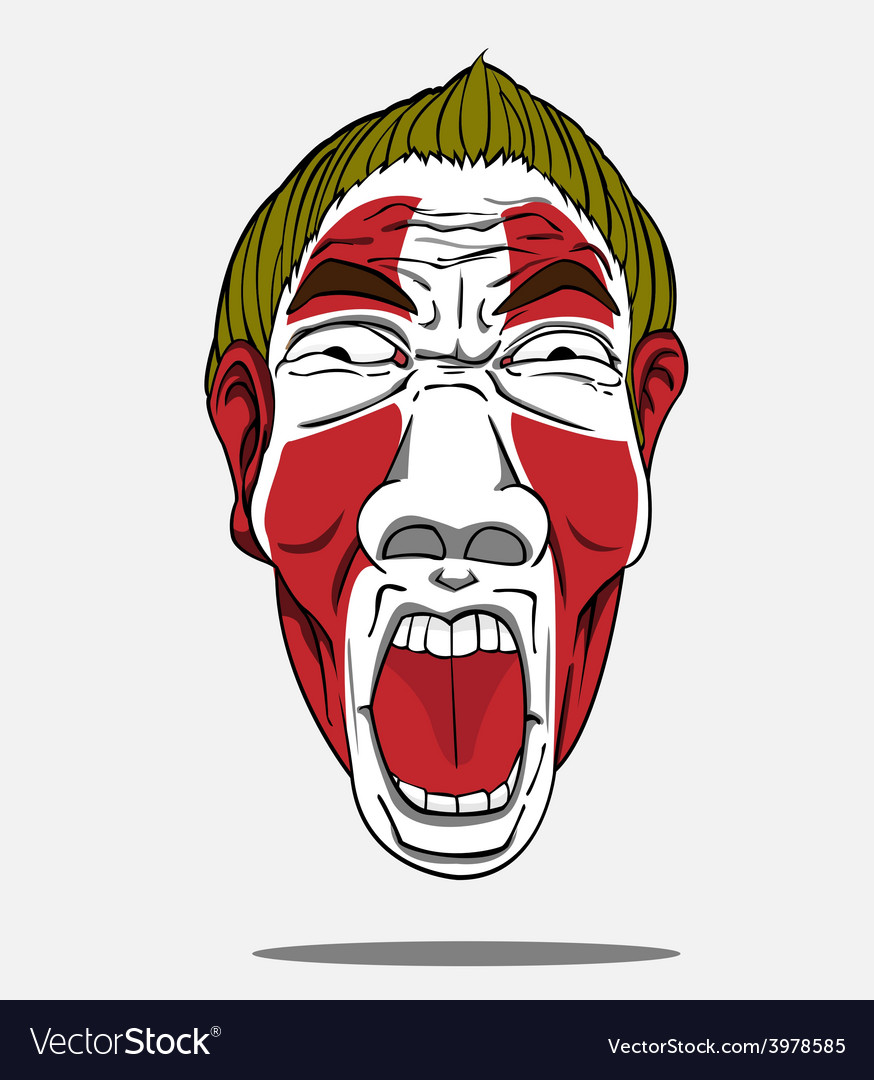 Football fan from denmark vector | Price: 1 Credit (USD $1)