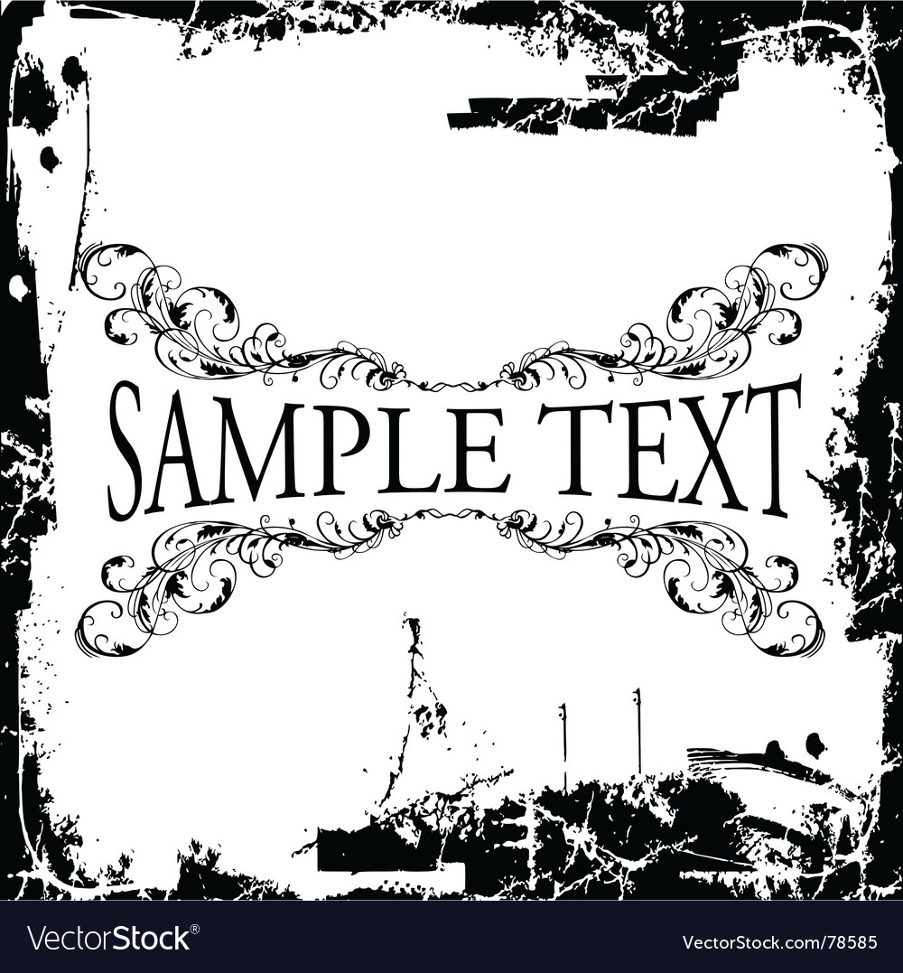 Grunge decorative vintage ornate banner vector | Price: 1 Credit (USD $1)