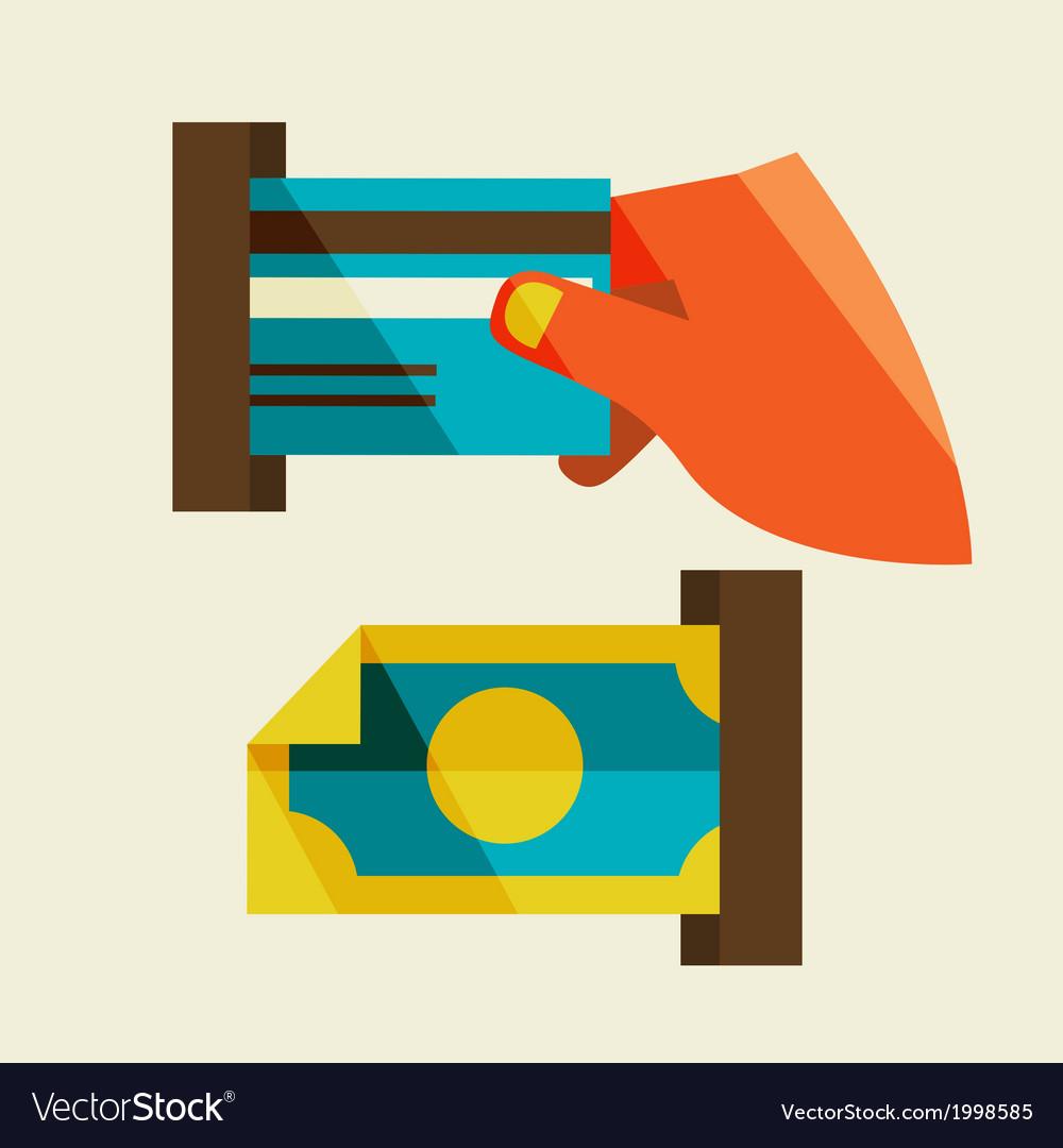 Receipt of money vector | Price: 1 Credit (USD $1)