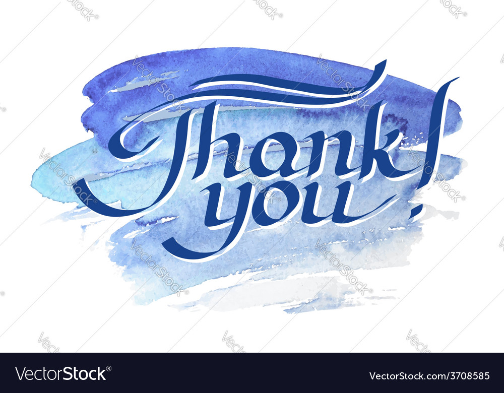 Thank you hand-drawn lettering vector   Price: 1 Credit (USD $1)