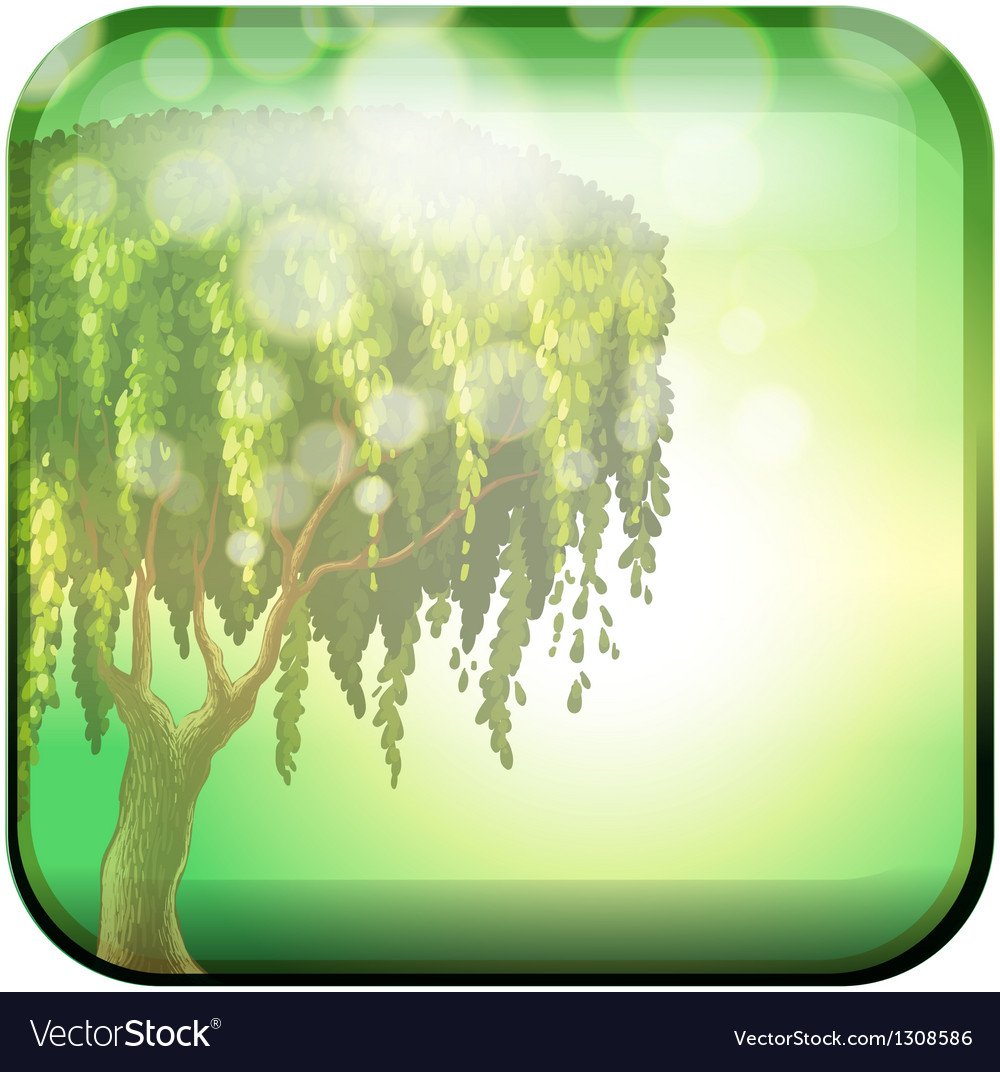 A tree inside a green square vector | Price: 1 Credit (USD $1)