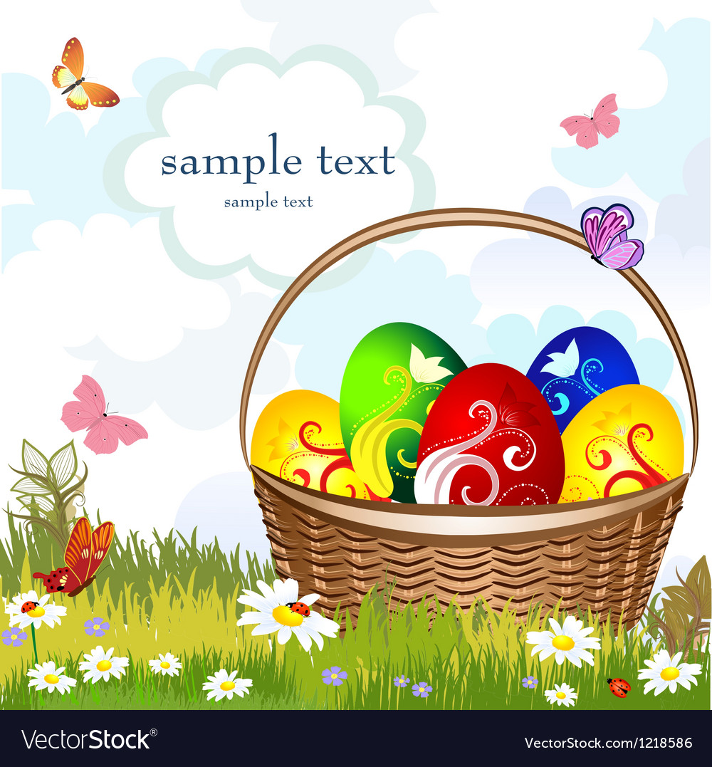 Basket easter vector | Price: 3 Credit (USD $3)