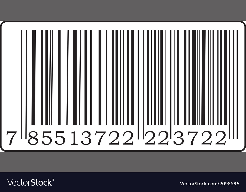 Black barcode vector | Price: 1 Credit (USD $1)