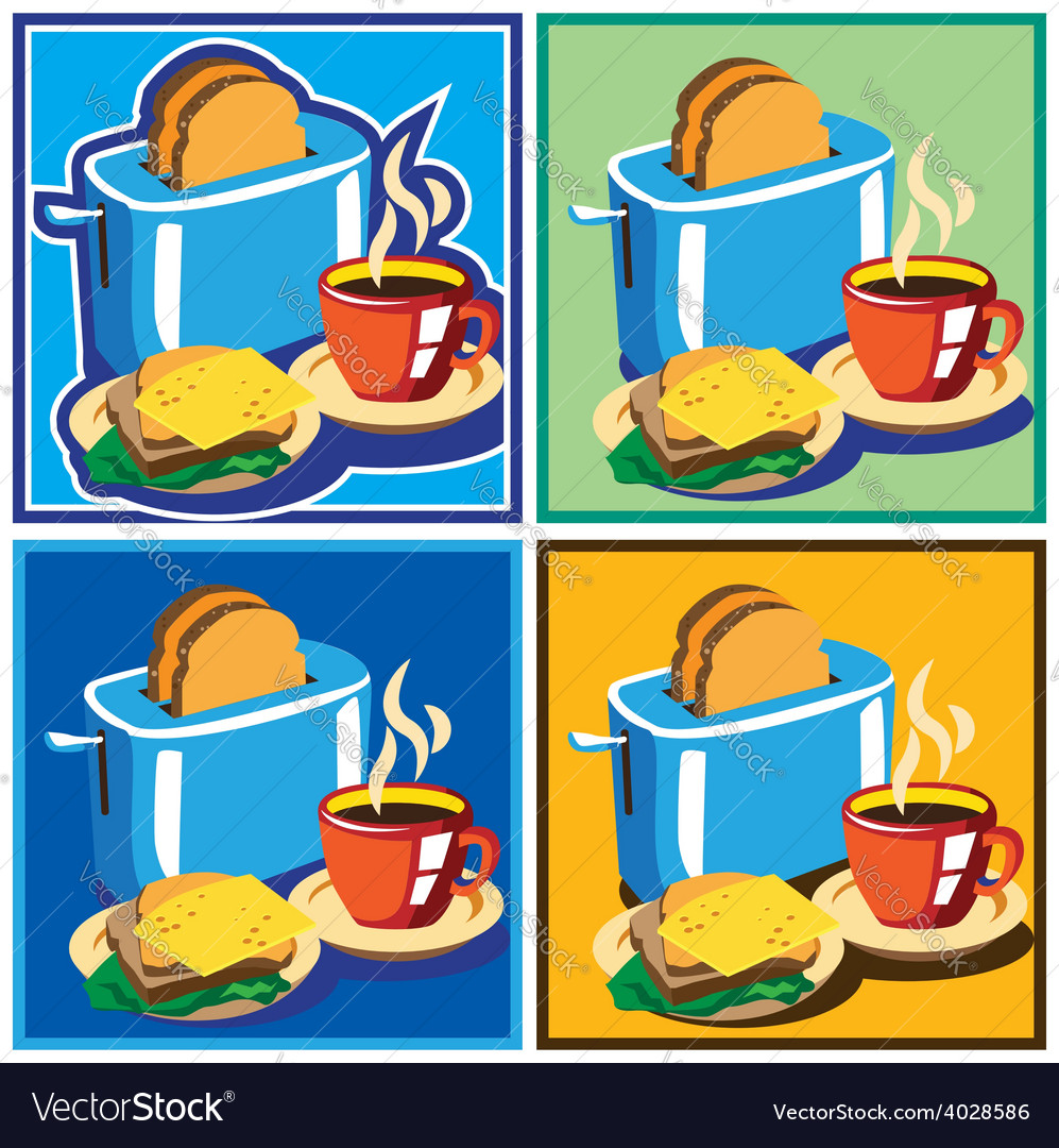 Breakfast set vector | Price: 1 Credit (USD $1)