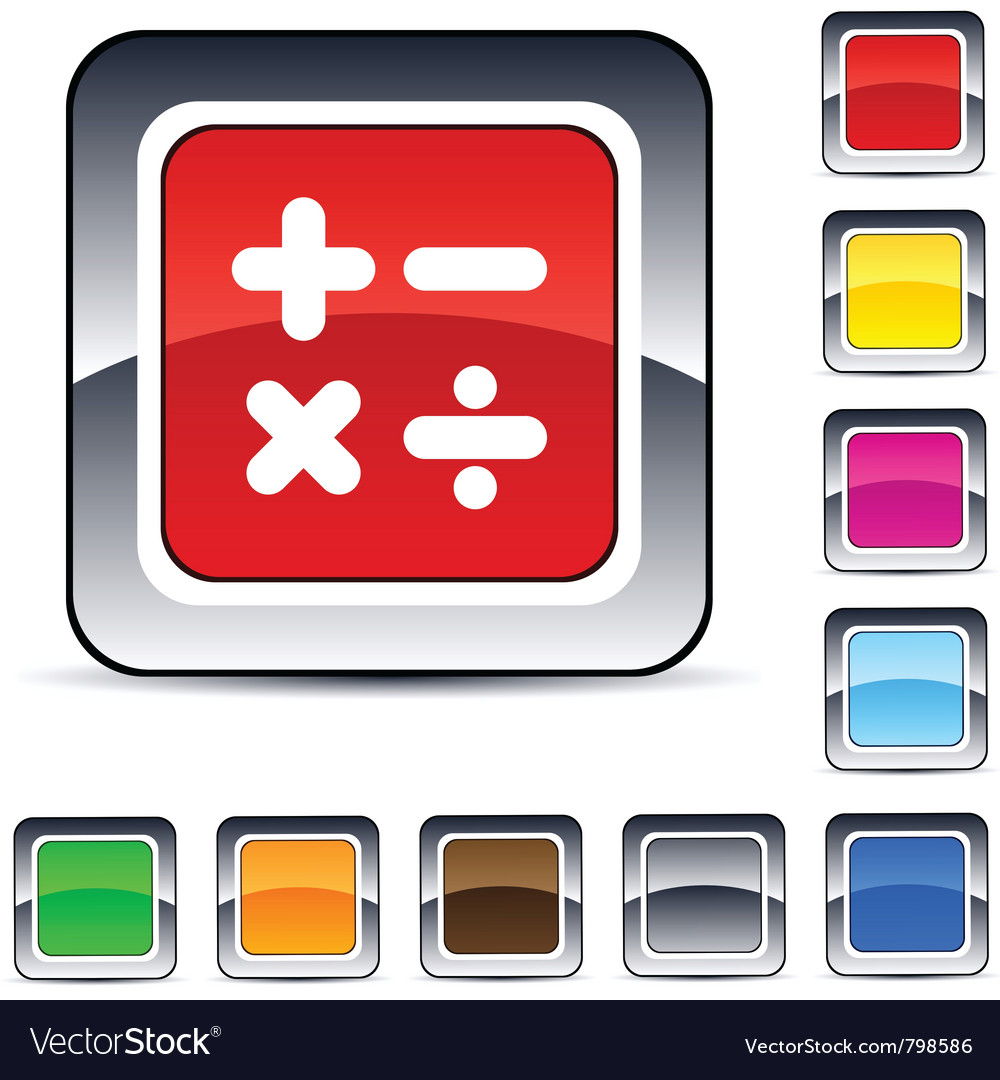 Calculate square button vector | Price: 1 Credit (USD $1)