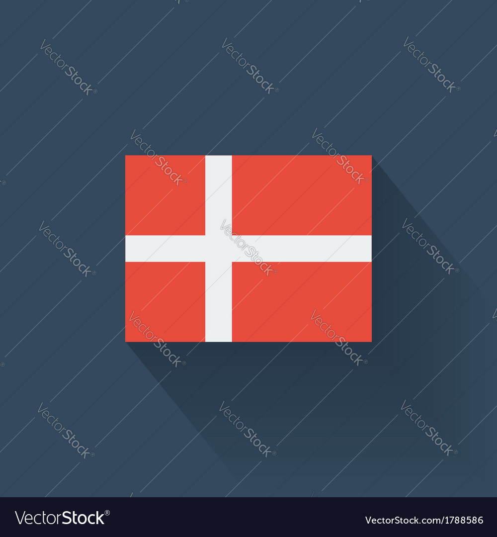 Flat flag of denmark vector | Price: 1 Credit (USD $1)