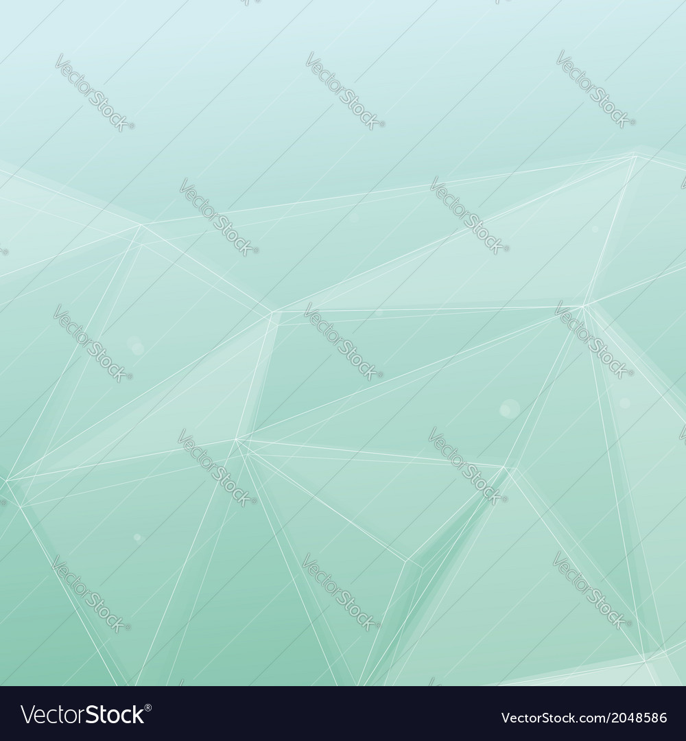 Modern crystal structure green background vector | Price: 1 Credit (USD $1)