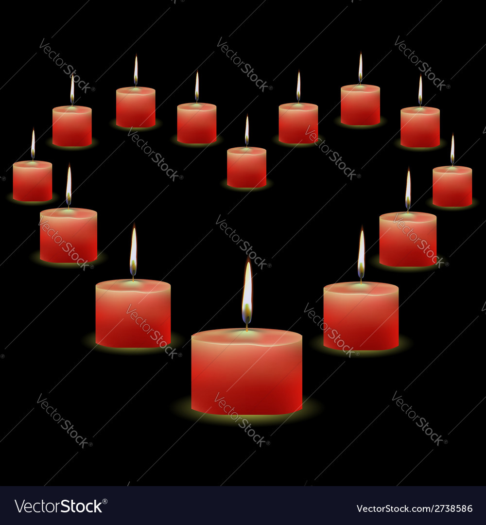 Pink candles vector | Price: 1 Credit (USD $1)