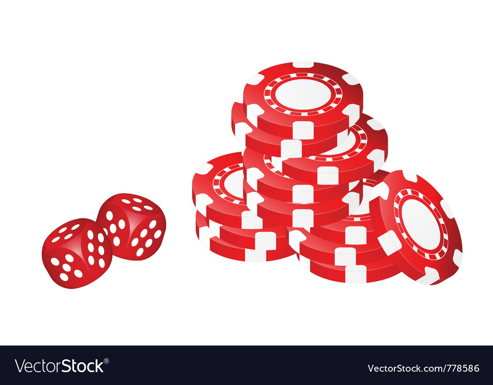 Poker chips with dice vector | Price: 1 Credit (USD $1)