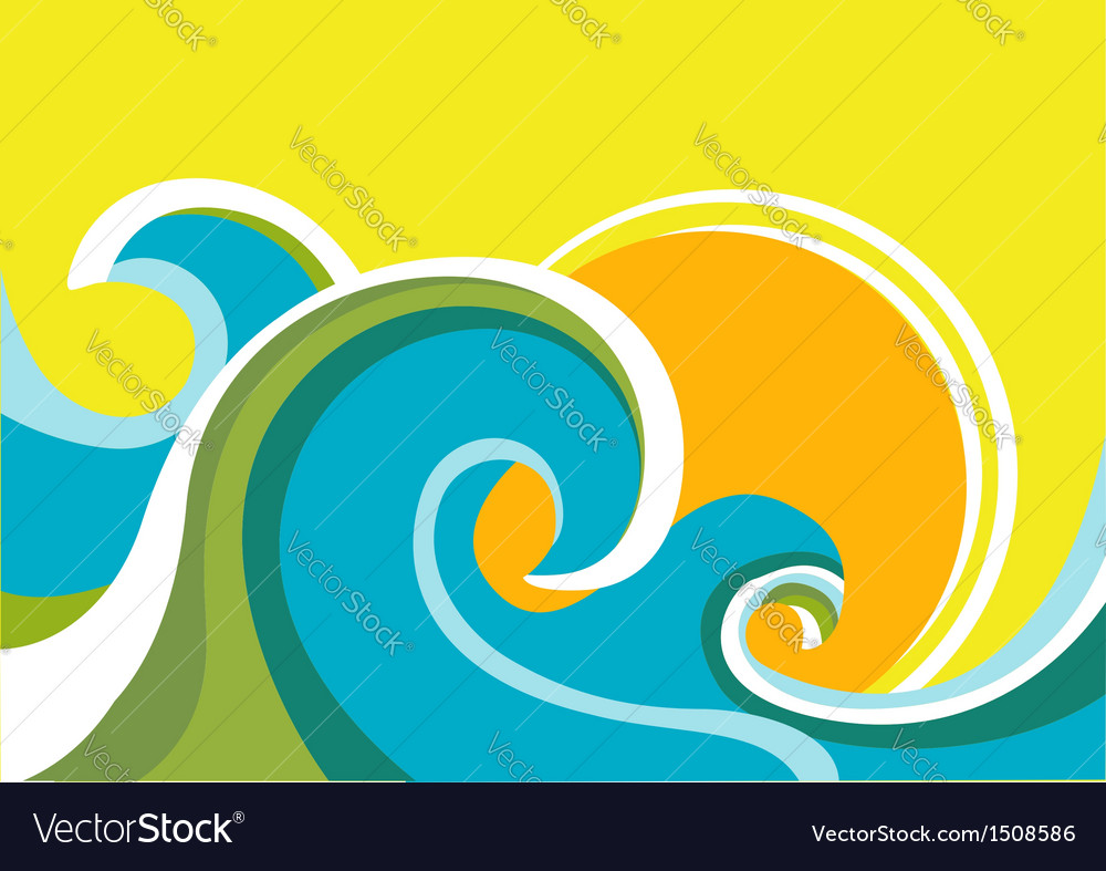 Seascape poster vector | Price: 1 Credit (USD $1)
