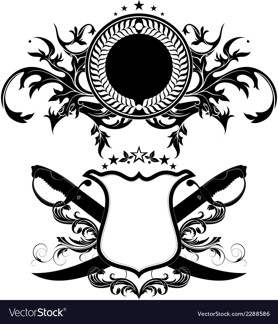 Set of ornamental shields vector | Price: 1 Credit (USD $1)