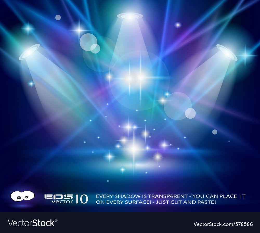 Stage lights vector | Price: 1 Credit (USD $1)
