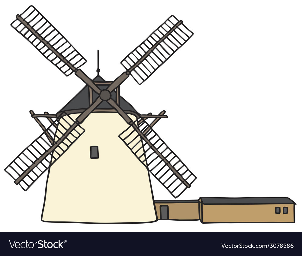 Stone windmill vector | Price: 1 Credit (USD $1)