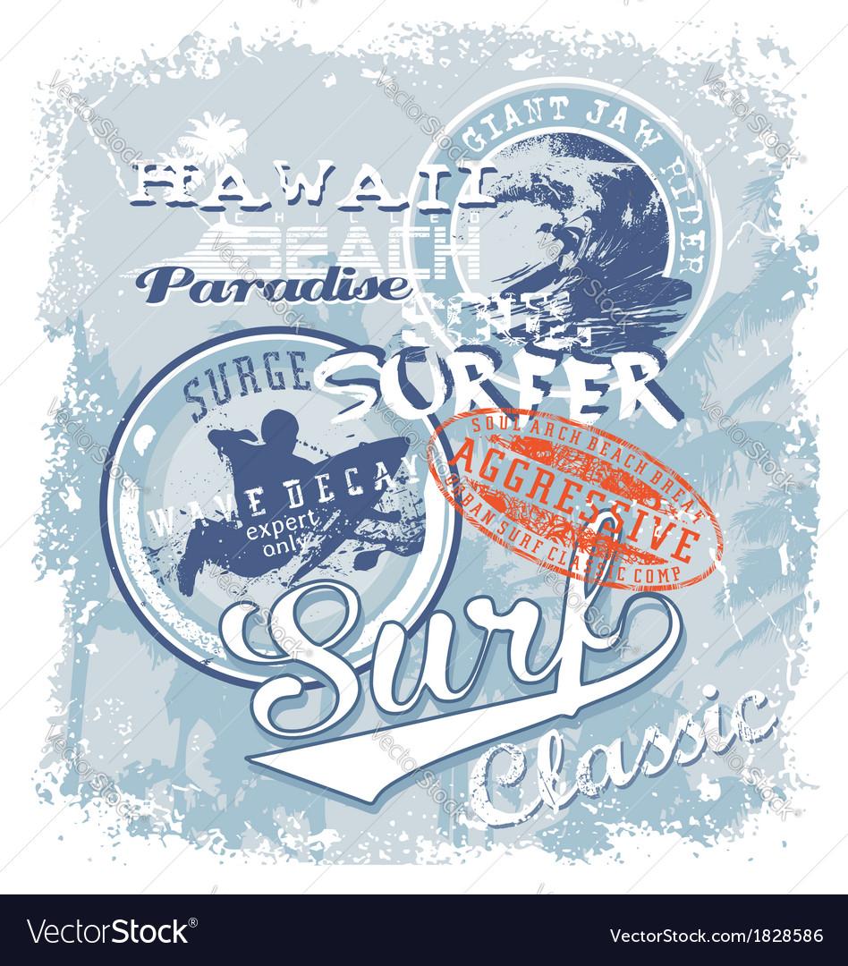 Surf soul hawaii crack vector | Price: 1 Credit (USD $1)