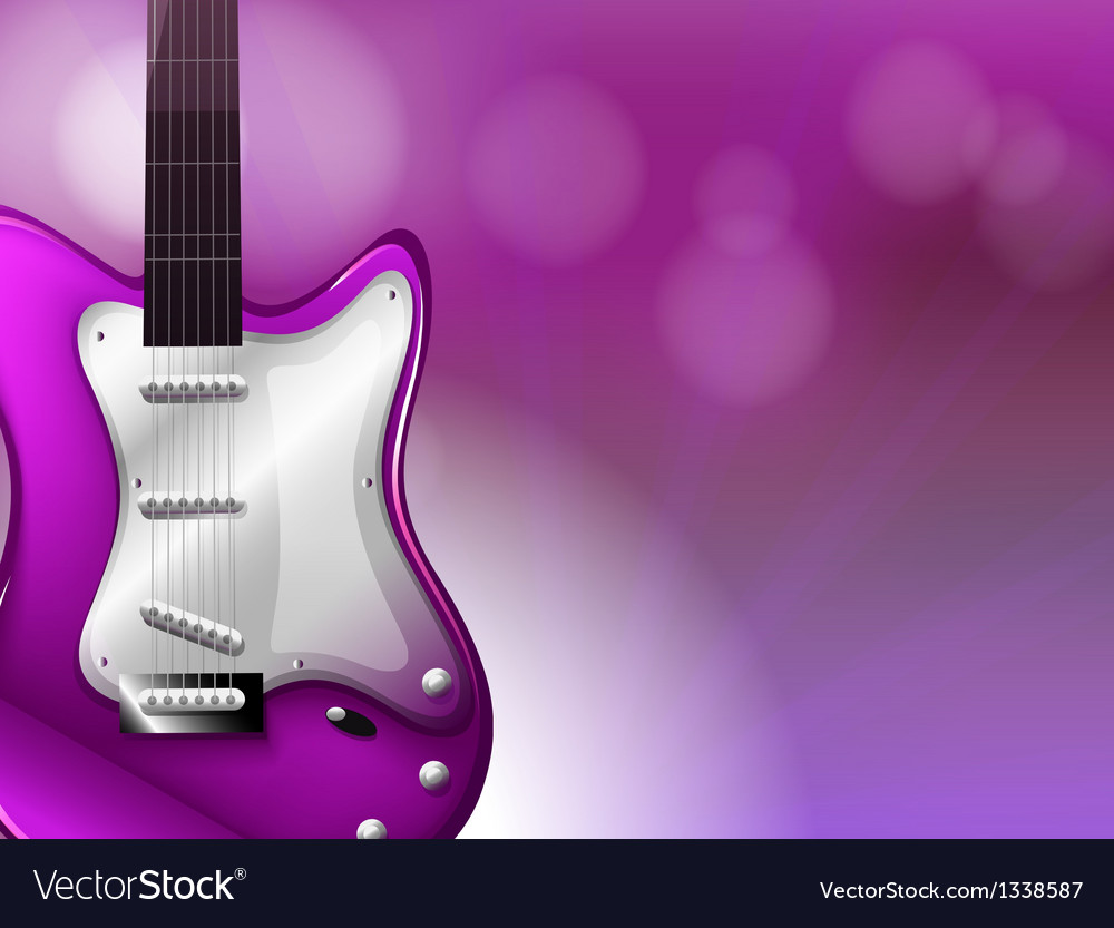 A guitar with a gradient colored background vector | Price: 1 Credit (USD $1)