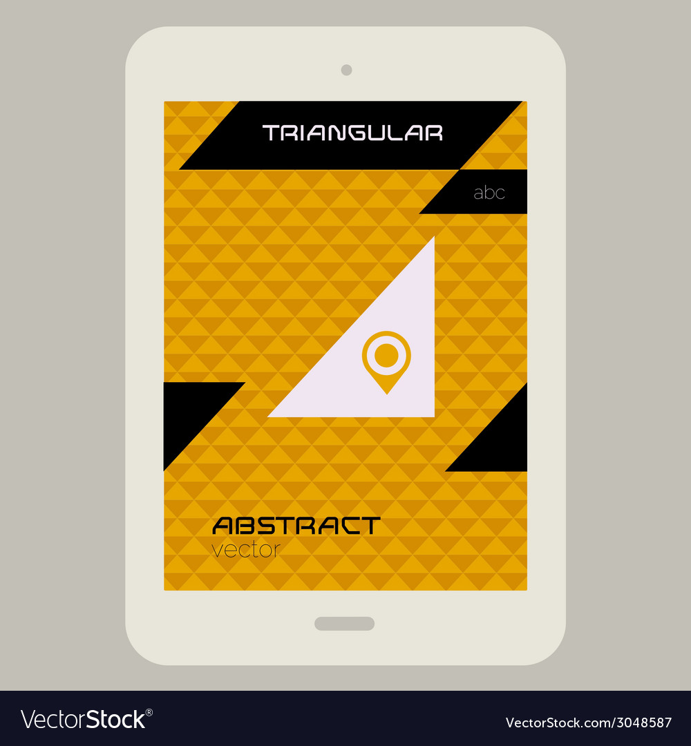 Abstract ui template with tablet pc on triangular vector | Price: 1 Credit (USD $1)