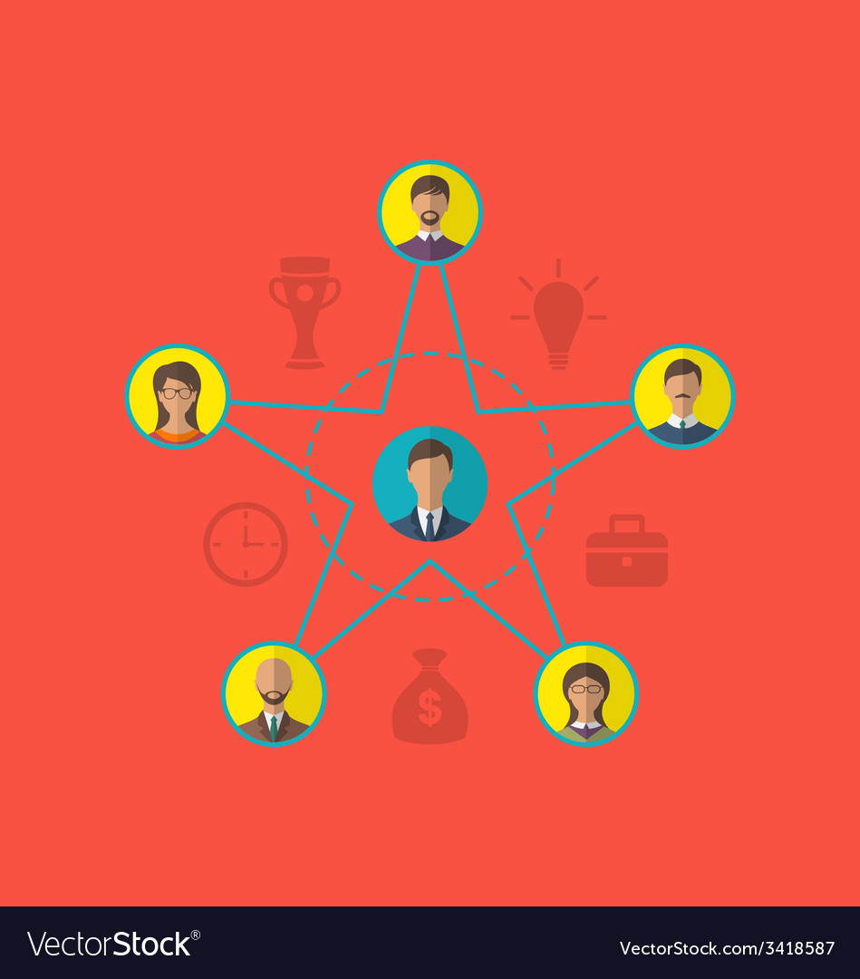 Concept of leadership community business people vector | Price: 1 Credit (USD $1)