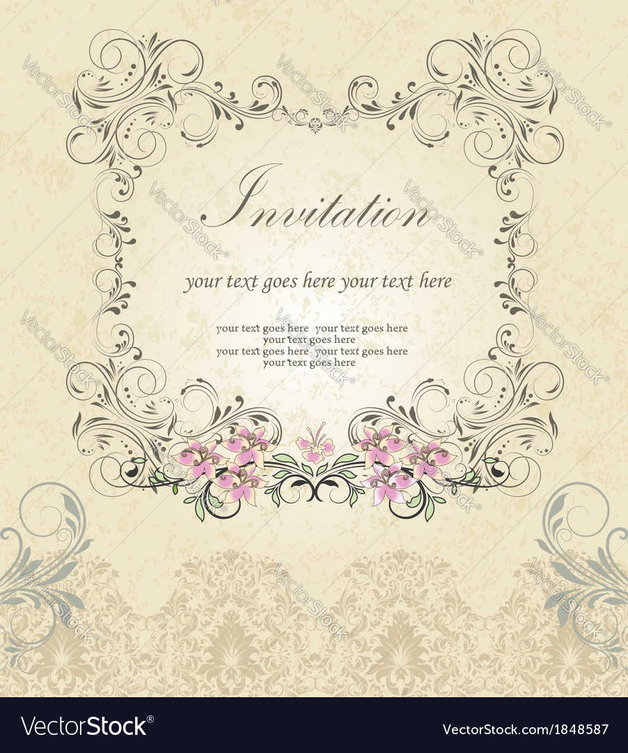 Floral ornate frame vector | Price: 1 Credit (USD $1)