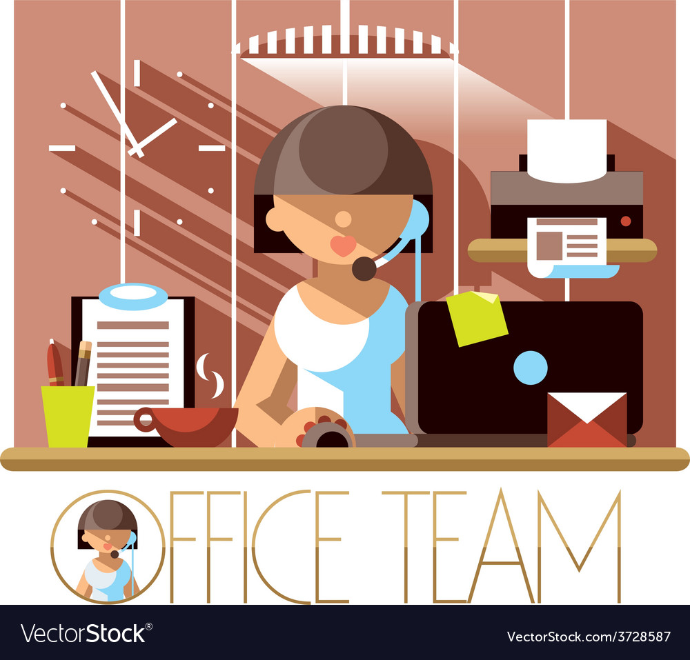 Office team support vector | Price: 1 Credit (USD $1)