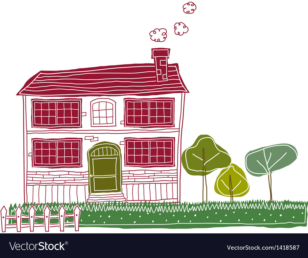 Residential house vector | Price: 1 Credit (USD $1)