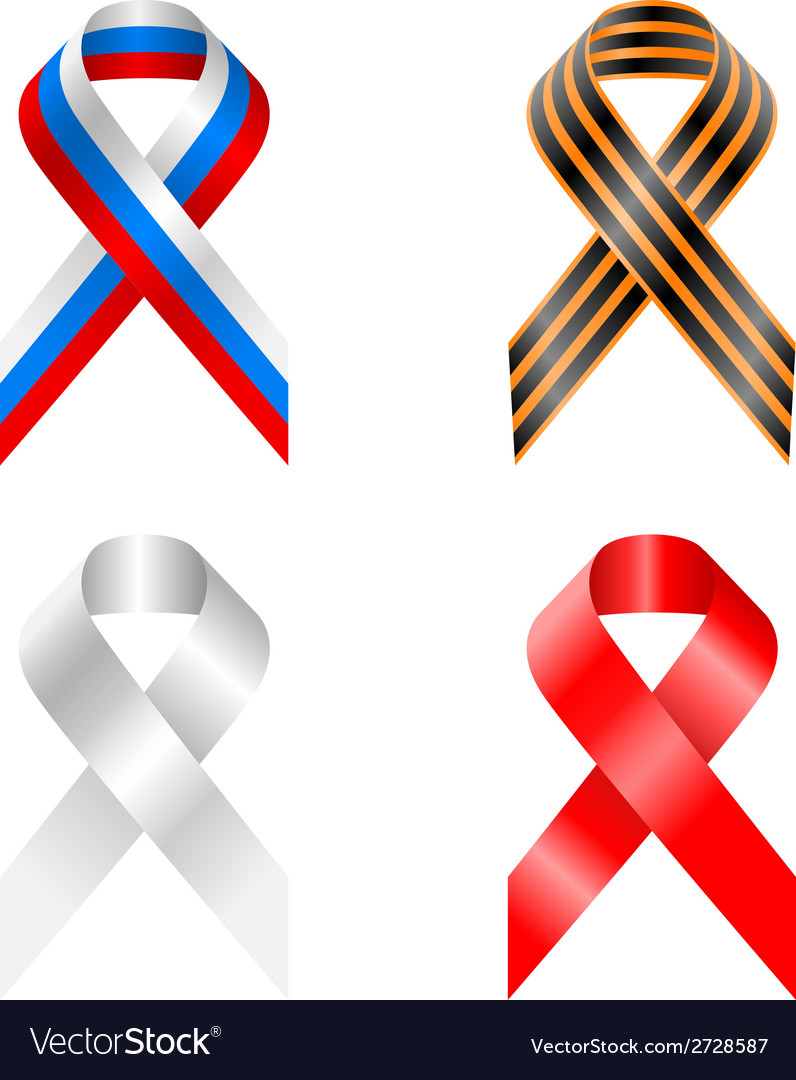 Retro ribbon russia russian scroll stylized symbol vector | Price: 1 Credit (USD $1)