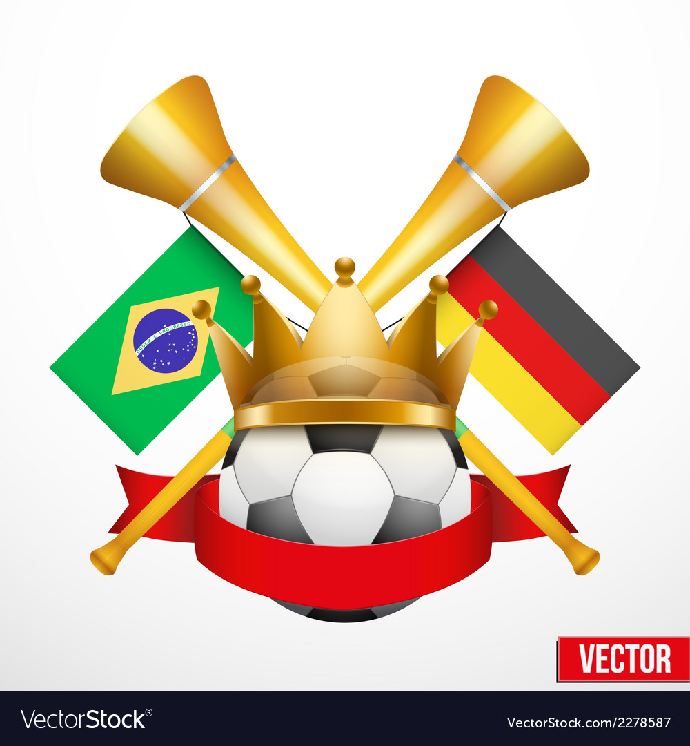 Sporting poster with soccer ball vector | Price: 1 Credit (USD $1)