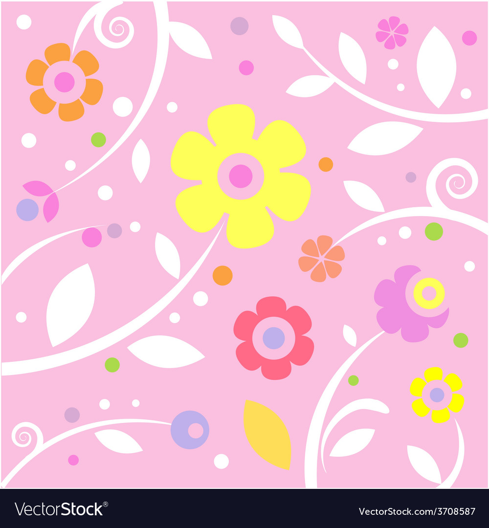 Sweet pink pattern vector | Price: 1 Credit (USD $1)
