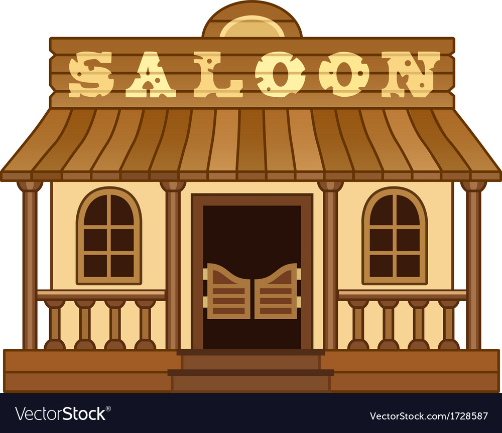 Western saloon vector | Price: 1 Credit (USD $1)