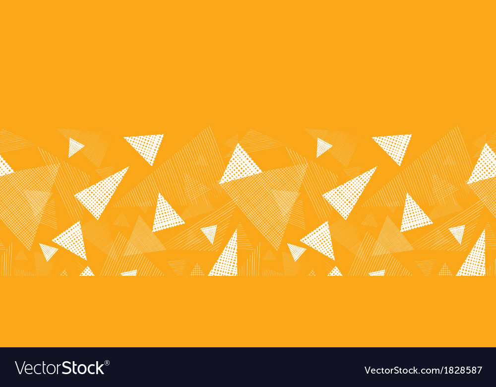 Yellow textured triangles horizontal border vector | Price: 1 Credit (USD $1)