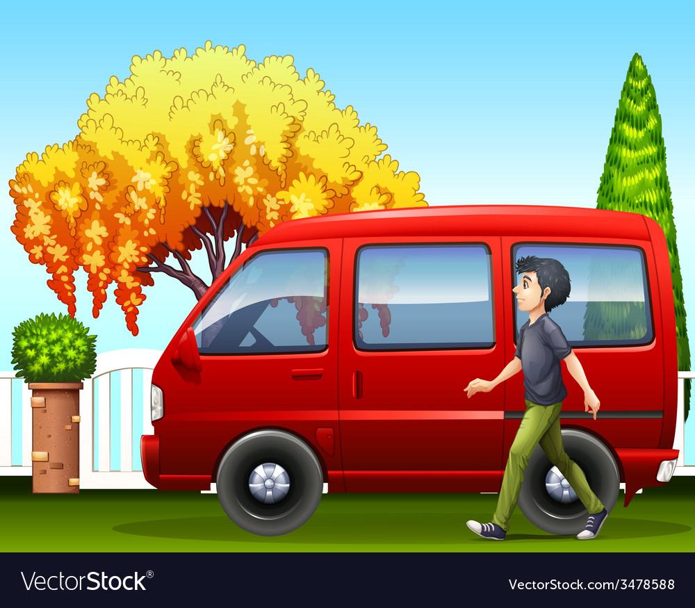 A small van vector | Price: 3 Credit (USD $3)