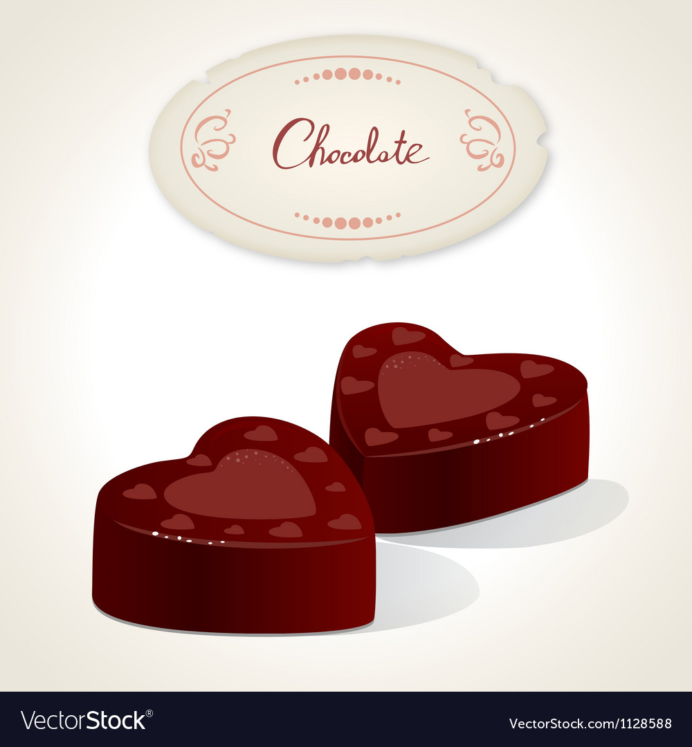 Chocolate heart vector | Price: 1 Credit (USD $1)