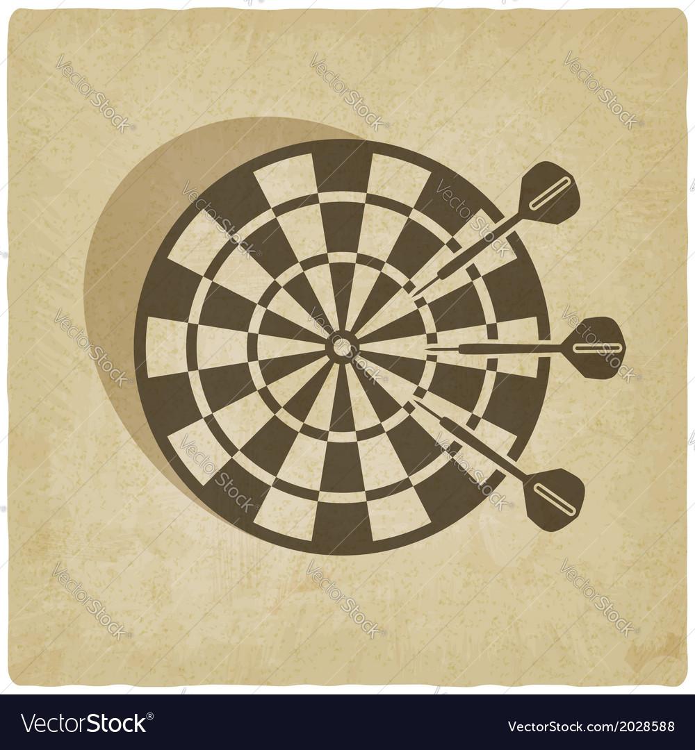 Darts old background vector | Price: 1 Credit (USD $1)