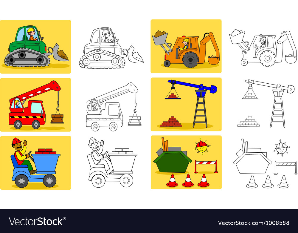 Heavy industry machineries vector | Price: 3 Credit (USD $3)