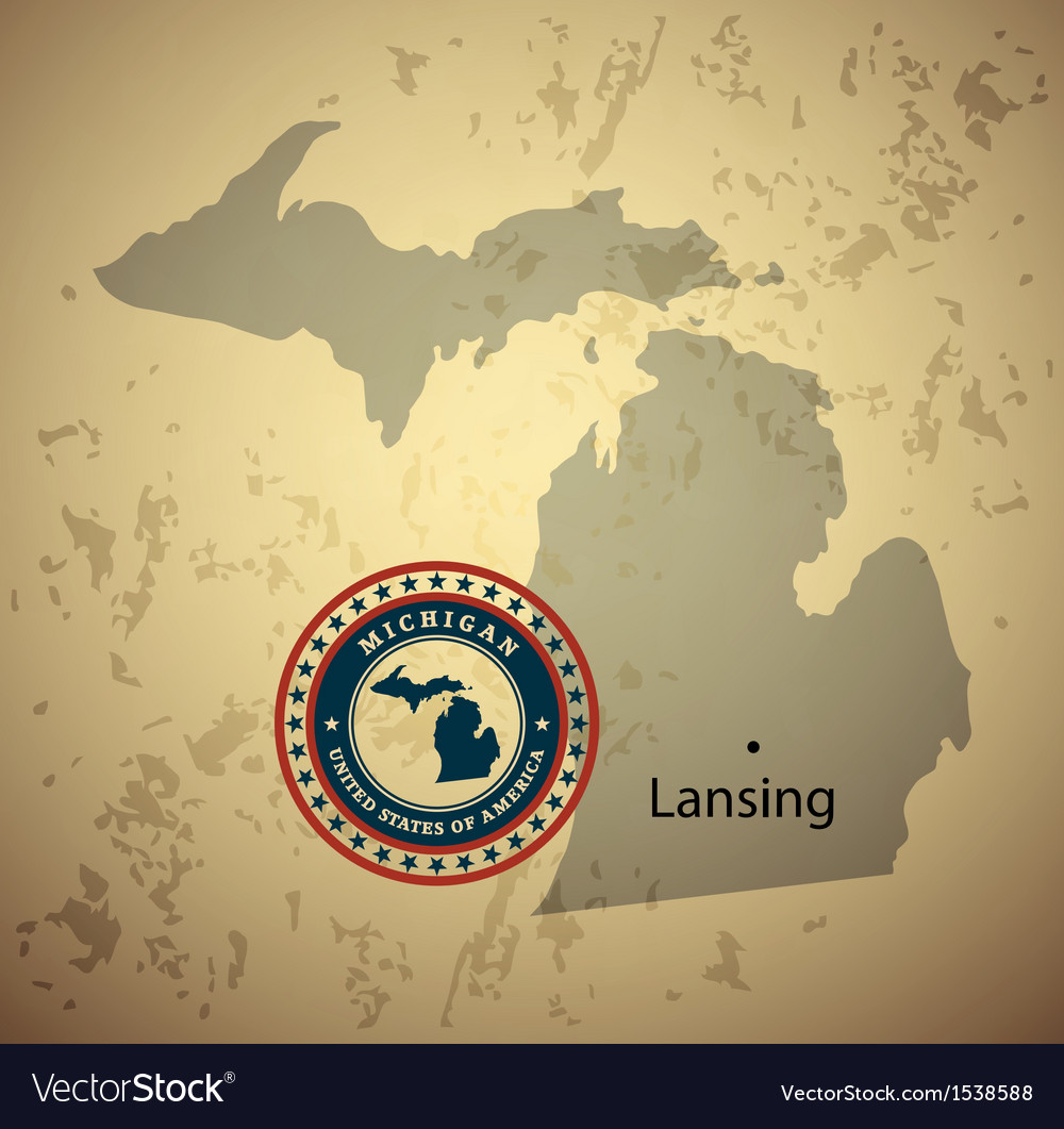 Michigan vector | Price: 1 Credit (USD $1)