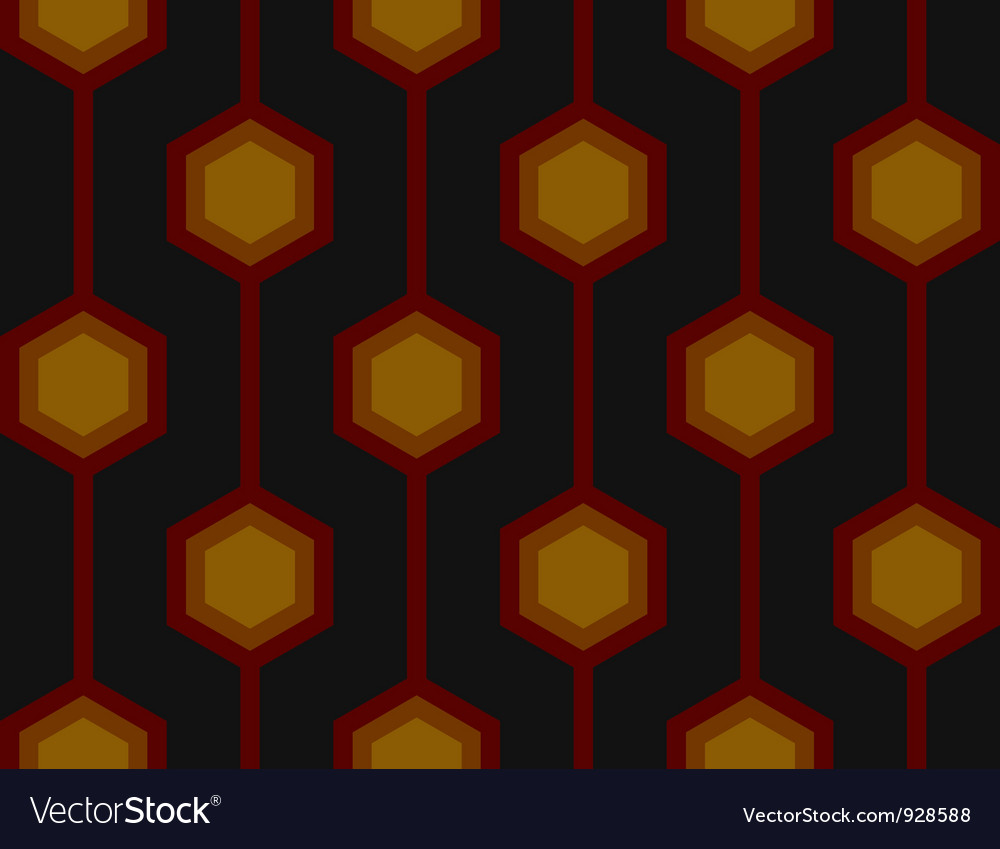 Retro hexagons red seamless tile vector | Price: 1 Credit (USD $1)