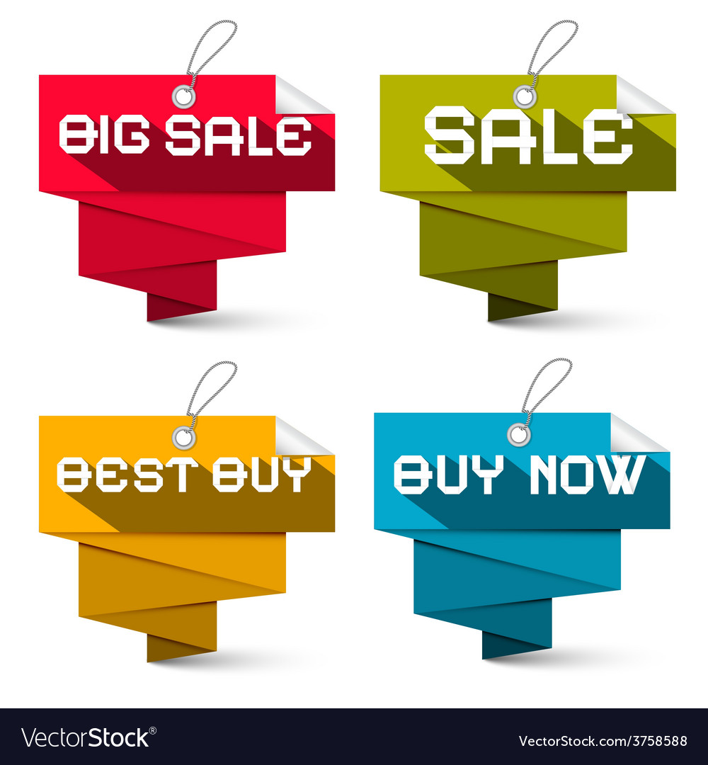Sale labels set isolated on white background vector | Price: 1 Credit (USD $1)