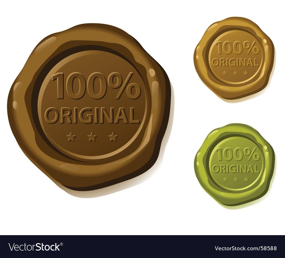 Seal original vector | Price: 1 Credit (USD $1)
