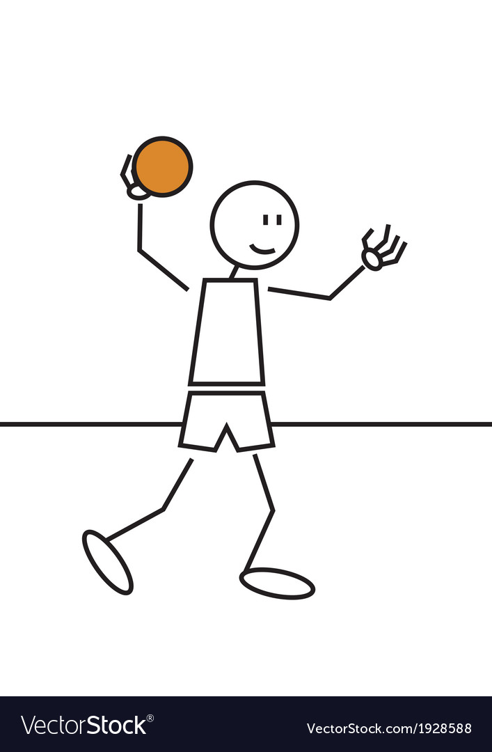 Stick figure handball vector | Price: 1 Credit (USD $1)