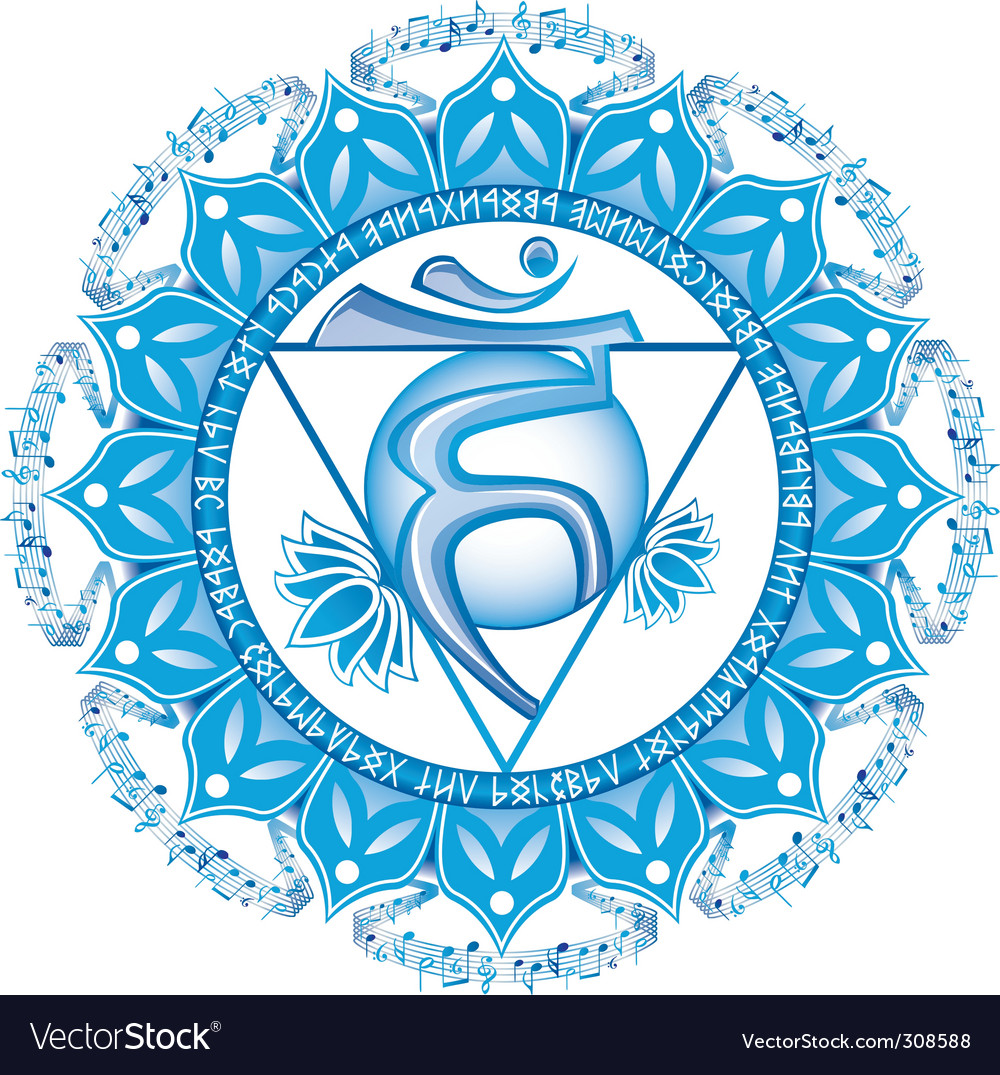 Throat visuddha chakra vector | Price: 1 Credit (USD $1)
