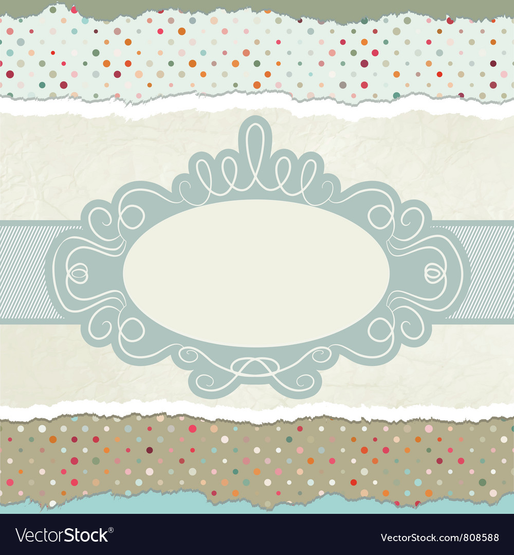 Vintage pattern card vector | Price: 1 Credit (USD $1)