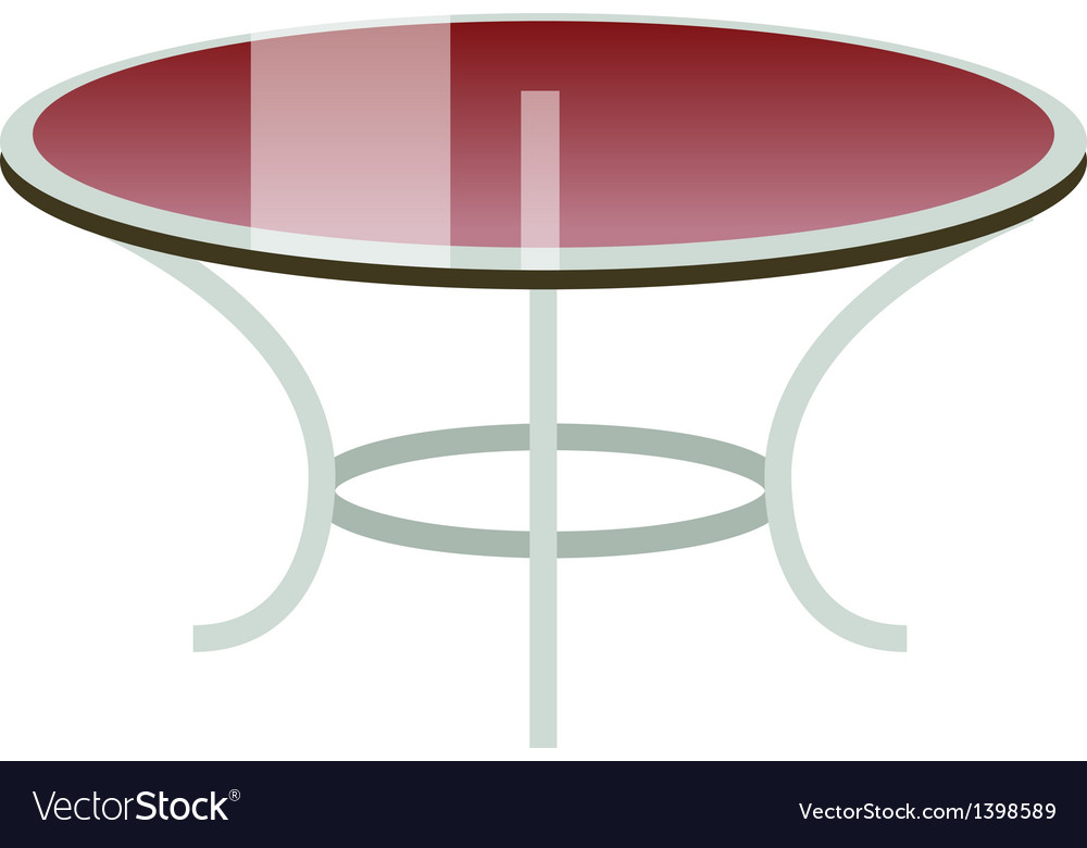 A table is placed vector
