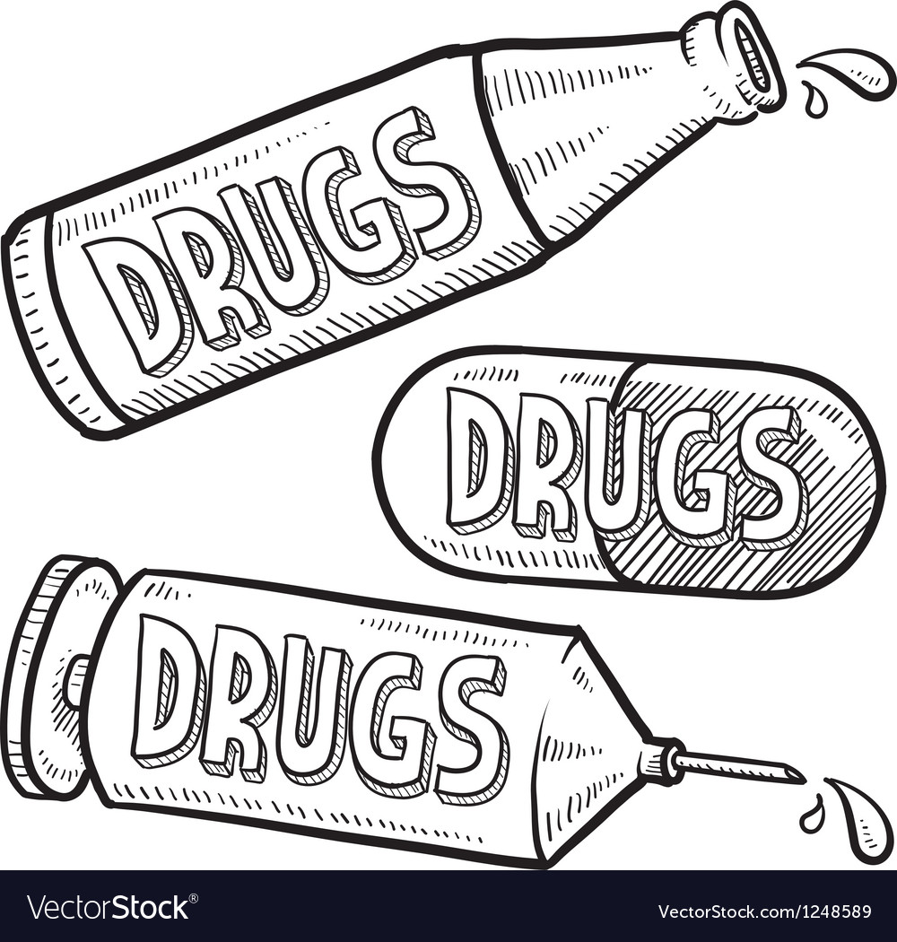 Addiction to drugs vector | Price: 1 Credit (USD $1)