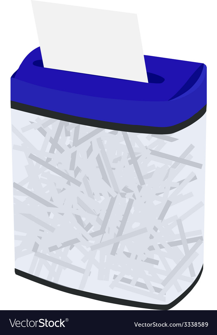 Blue full shredder vector | Price: 1 Credit (USD $1)