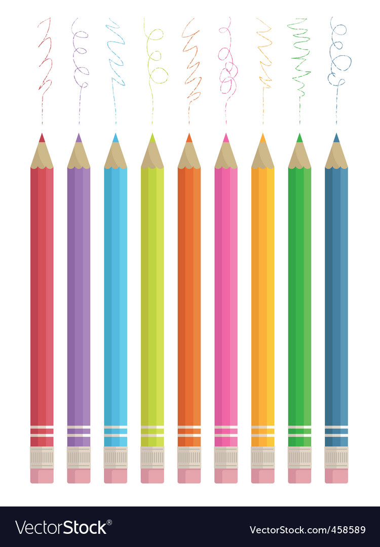 Colour sketching pencils vector | Price: 1 Credit (USD $1)