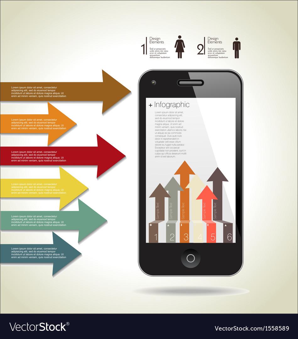Infographics modern design background vector | Price: 1 Credit (USD $1)