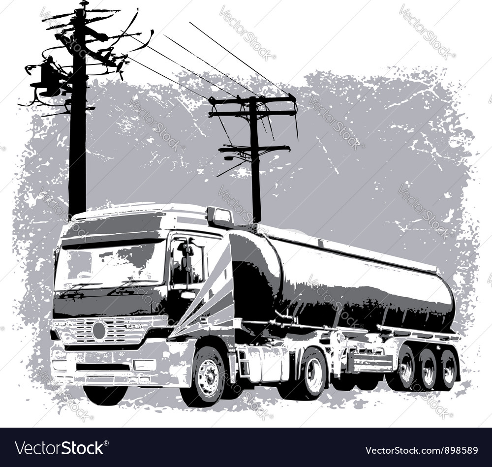 Liquid truck vector | Price: 1 Credit (USD $1)