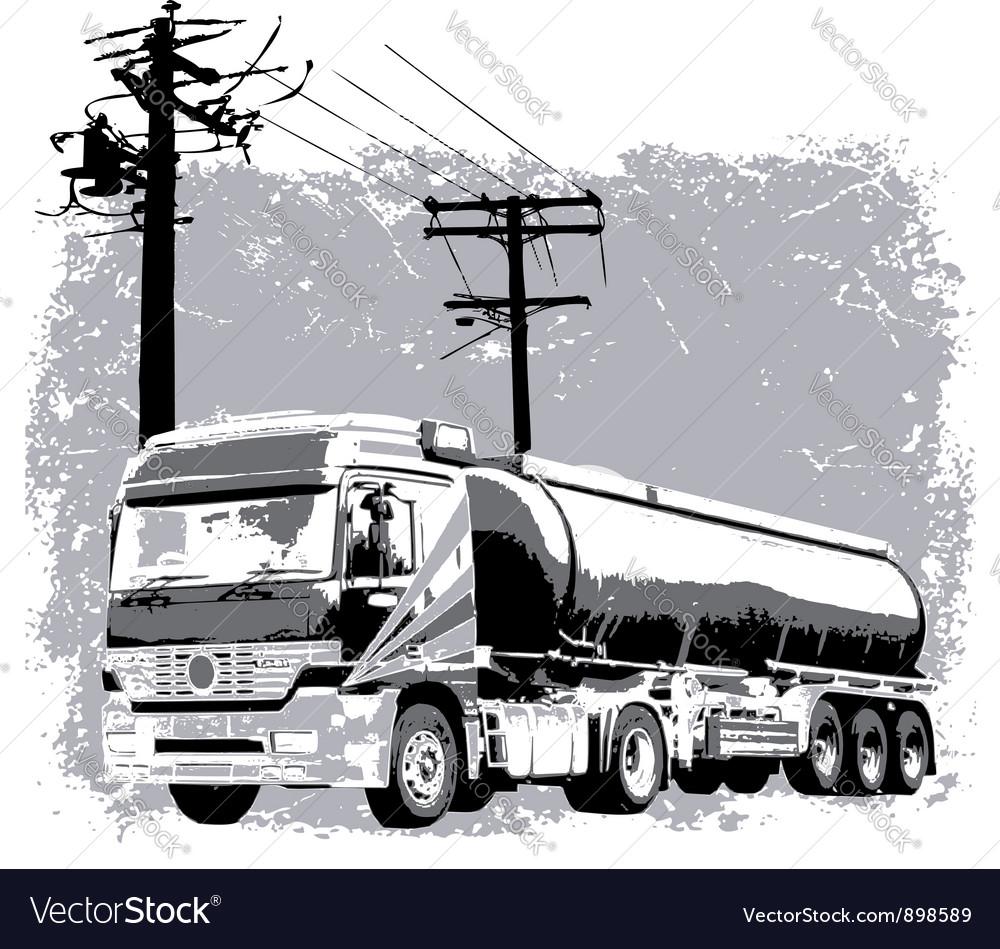 Liquid truck vector | Price: 1 Credit (USD $1)