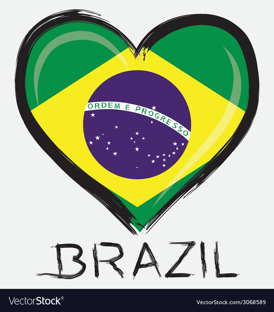 Love brazil flag vector | Price: 1 Credit (USD $1)