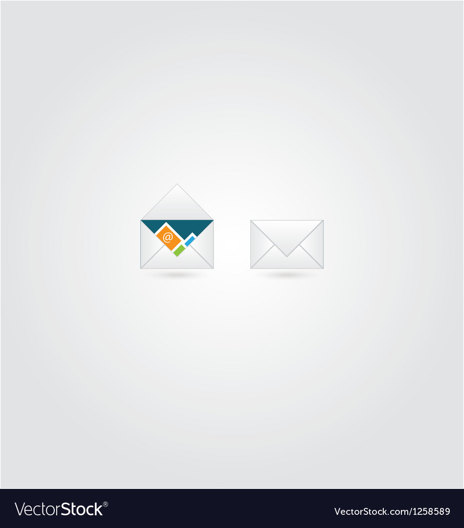 Open and close envelope with email vector | Price: 1 Credit (USD $1)